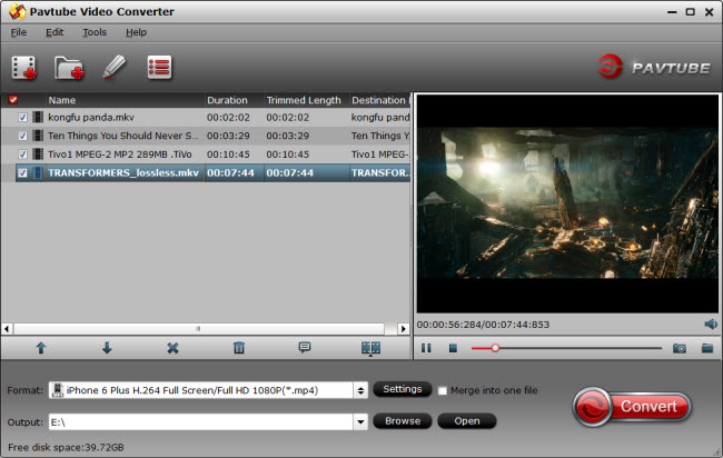 Pavtube Video Converter assists with video to mp4, avi, mkv, wmv, flv conversion