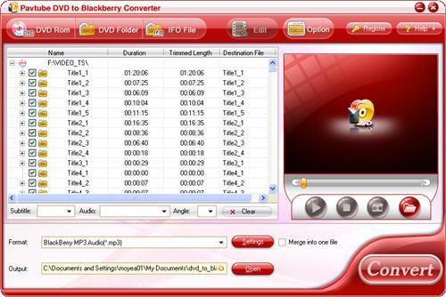 DVD to Blackberry Converter