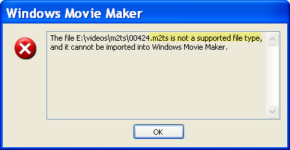 avchd mts import to windows movie maker
