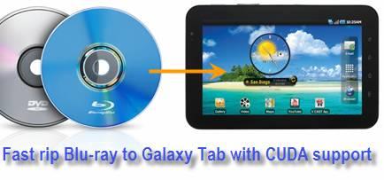 blu-ray to galaxy tab cuda