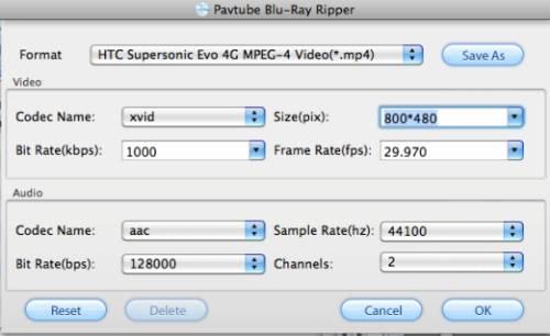 blu-ray to HTC Evo 4G