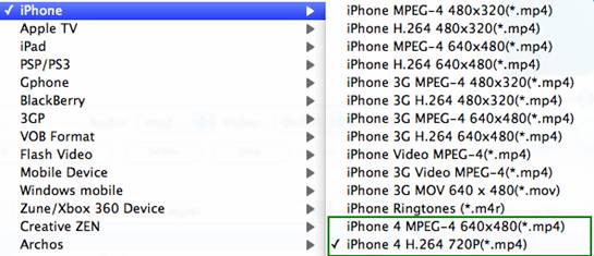 Convert 1080p HD to 720p iPhone 4 Video