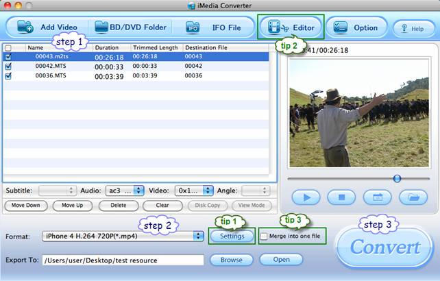 Convert AVCHD to iPhone 4