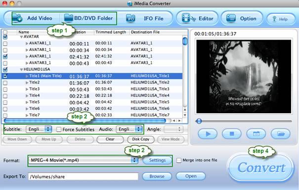 blu-ray dvd video to aaxa p2 pico projecotor converter