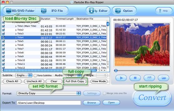 copy blu-ray to mac hdd