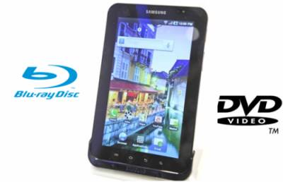 watch blu-ray movies on samsung galaxy tab