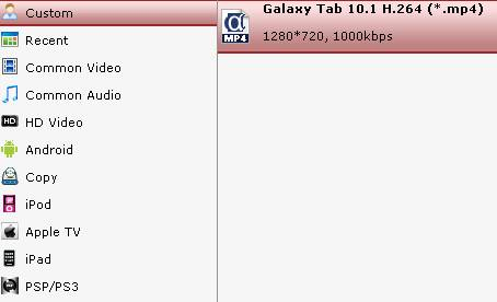 convert dvd to galaxy tab 10.1
