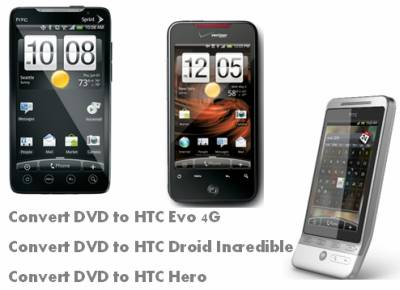 dvd to htc incredible