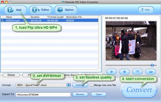 convert flip ultra mp4 to final cut