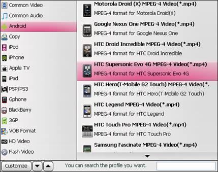 TiVo to HTC Evo 4G