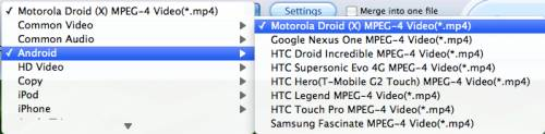 blu-ray to Motorola Droid