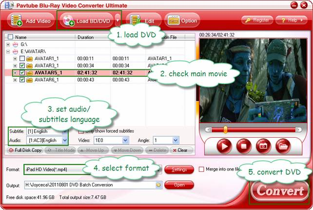 dvd batch processing