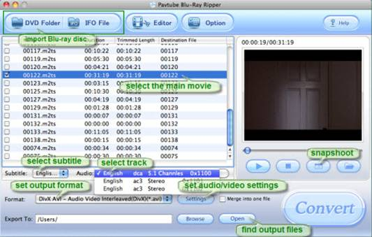 How to get English subtitle and audio track when ripping Blu