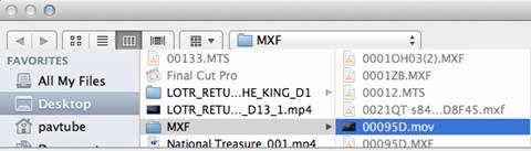 convert mxf to prores422