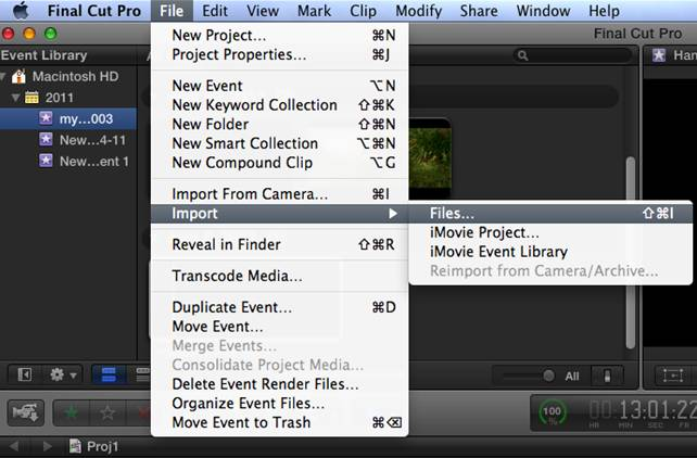 import video files to final cut pro x clip image006 Convert Panasonic DVCPRO HD P2 MXF to ProRes for FCP X on Mac