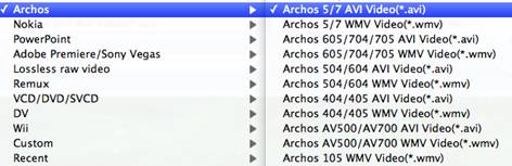 transfer movies to archos 101 on mac