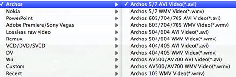 transfer music to Archos 5/7 from mac
