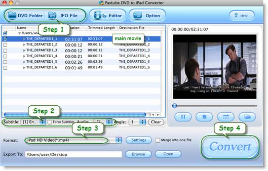 dvd2ipad conveter for mac