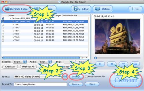 How to play Blu-ray disc with MPlayer on Mac OS?