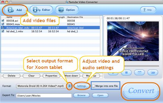 mac motorola xoom video converter