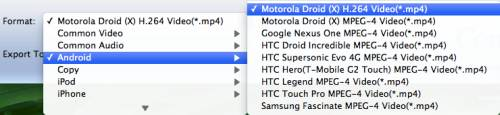 put avi, mkv, and mov video to motorola xoom on mac