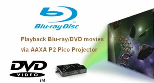 Blu-ray DVD to AAXA P2 Pico Projector Converter