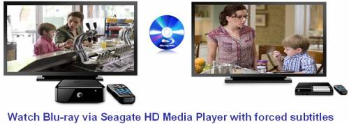 seagate hd media player play blu-ray with forced subtitles