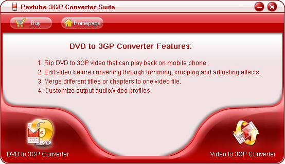 Pavtube 3GP Converter Suite screenshot
