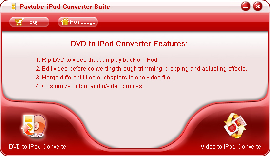 Pavtube iPod Converter Suite screenshot