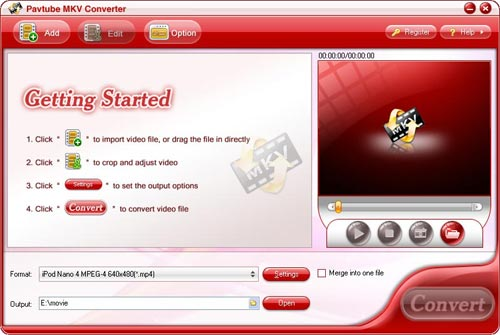 Pavtube MKV Converter  screenshot