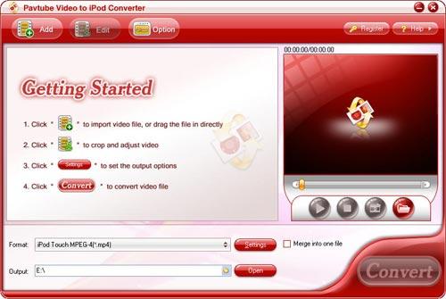 Pavtube Video to iPod Converter can convert WMV, AVI, etc. to iPod MP4.