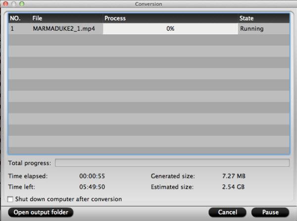 blu-ray to ipad converter for mac conversion interface