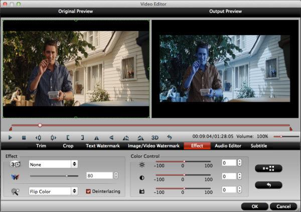blu-ray to ipad converter for mac editing interface