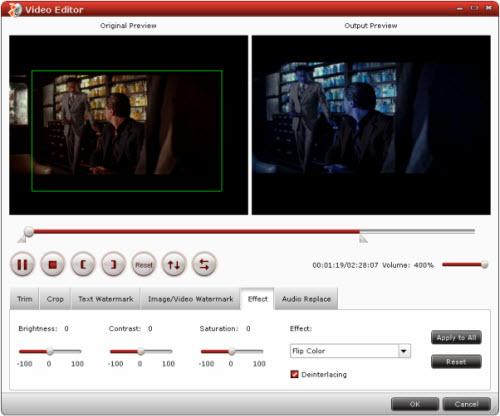 blu-ray to iphone converter editing interface