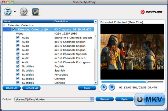 Pavtube ByteCopy for Mac + Blu-ray Ripper for Mac Screenshot