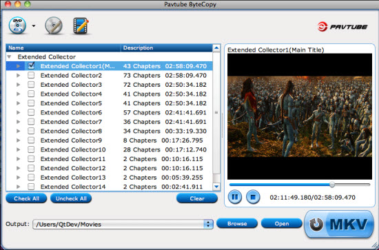 Pavtube ByteCopy for Mac + iMedia Converter for Mac Screenshot
