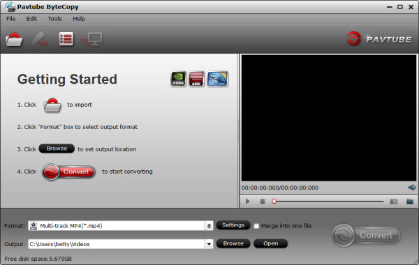 Fully copy Blu-ray to MKV and keep multiple audio and subtitle streams.