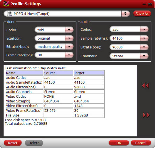 chewtune profile settings