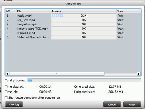 flv/f4v converter for mac conversion interface