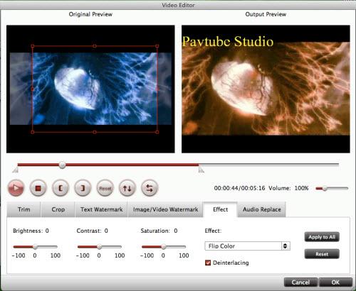 flv/f4v converter for mac editing interface