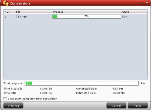 flv/f4v converter conversion interface