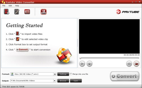 Video Converter converts between AVI, MKV, MP4, WMV, MOV, MPG, VOB, MTS formats.