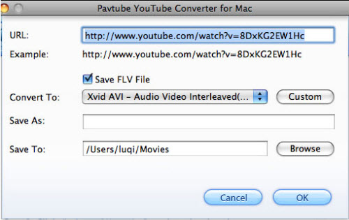 Pavtube YouTube Converter for Mac Screenshot