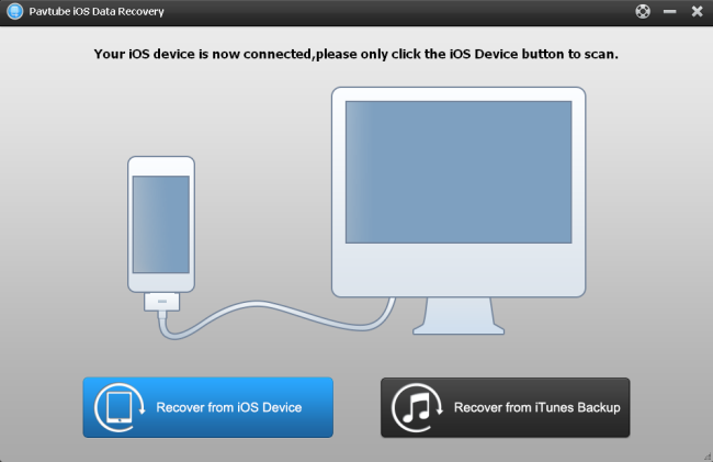 user interface recover from ios device