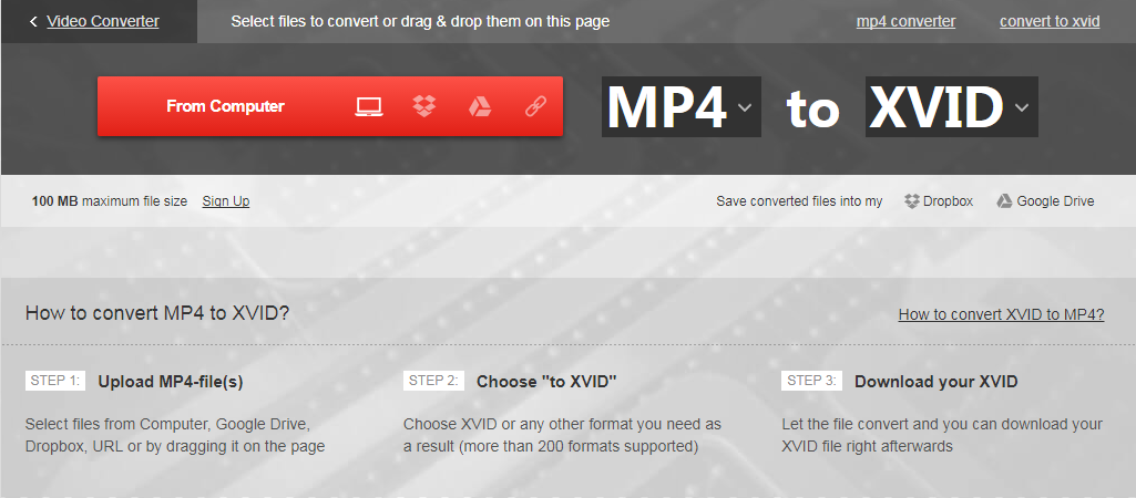 Encode MP4 to Xvid on Mac and Windows