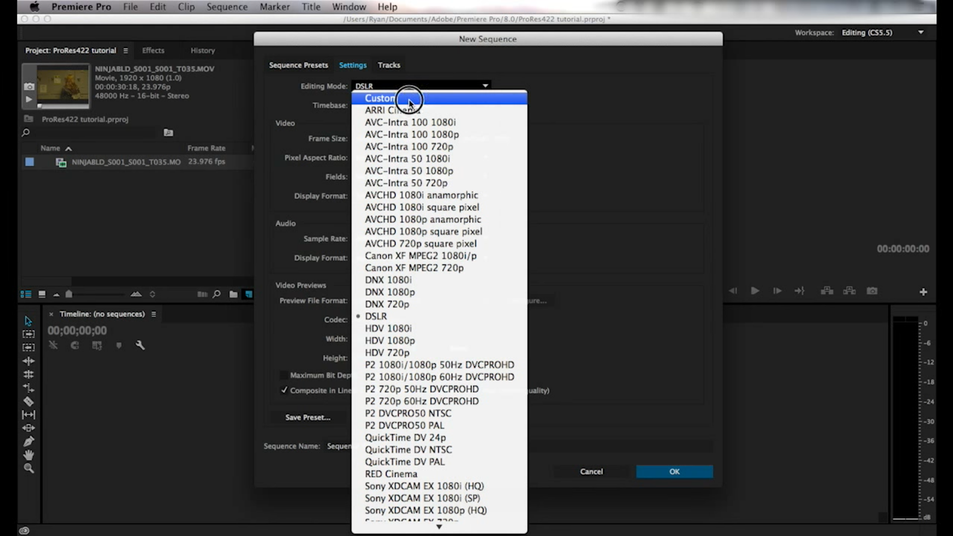 How to Export ProRes from Premiere Pro CC project