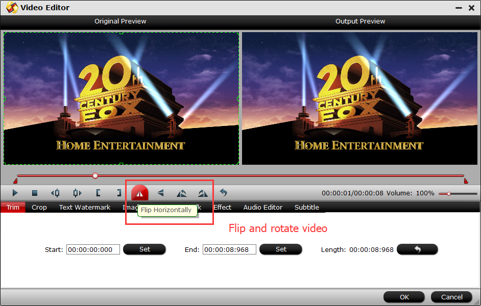 Different ways to flip videos flip video step 3 as we abovementioned pavtube video converter is a video converter therefore you can change video formats after flipped it ccuart Image collections