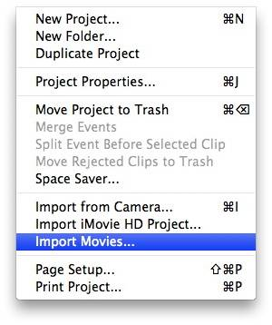 import converted ASF to iMovie