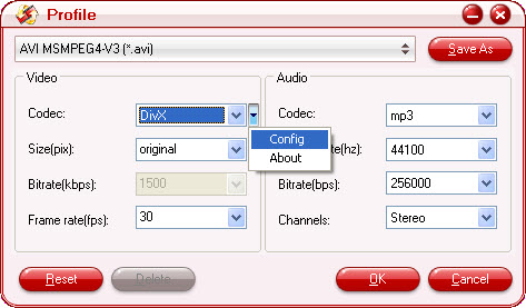 how to change video clip to vlc file
